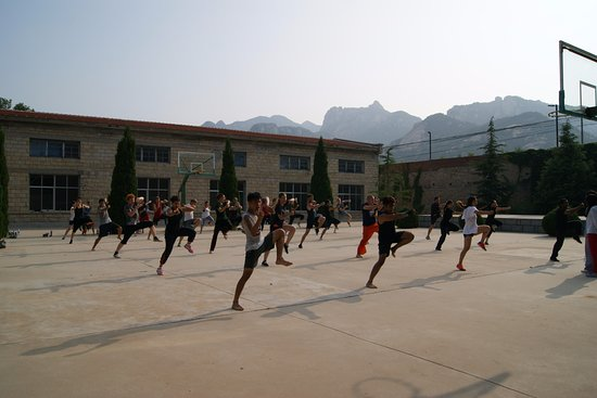 Kunyu Mountain: school yard