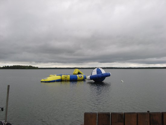 Blackduck, MN: Water trampoline and floats.