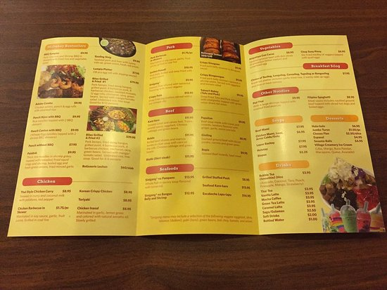 Glendale Heights, IL: Menu interior