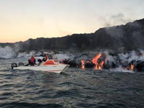 Pahoa, Havaí: lava boat tour
