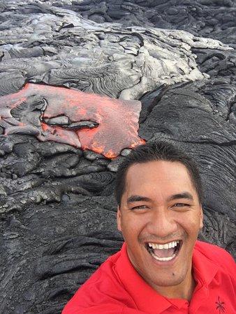 Pahoa, Hawái: lava selfie, August 2016