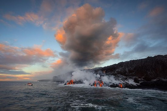 Pahoa, Χαβάη: lava boat tour, September 2016 (Photo by Tom Kualii)