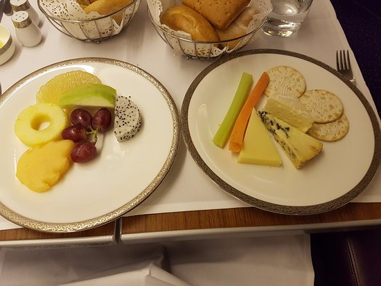 Thai Airways Fruit + Cheese Plate & Fruit + Cheese Plate - Picture of Thai Airways World - TripAdvisor