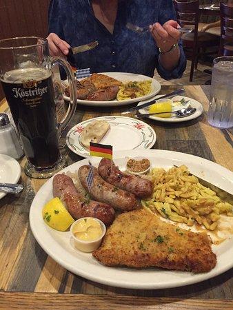 Das Stein Haus: German sampler plate.