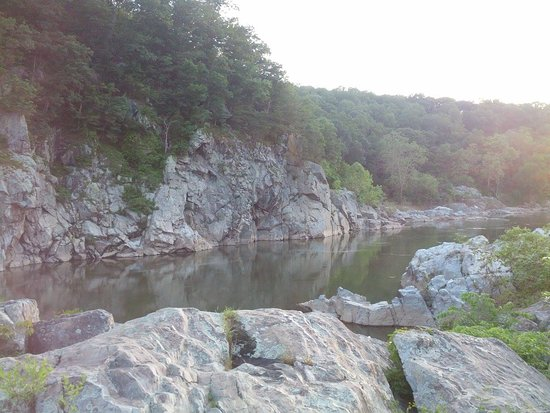 shot of Potomac River taken from rocks on eastern border of Purple Horse Beach