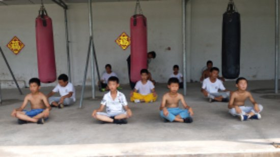 Xinyi, China: Children summer kungfu training camps at Maling Academy