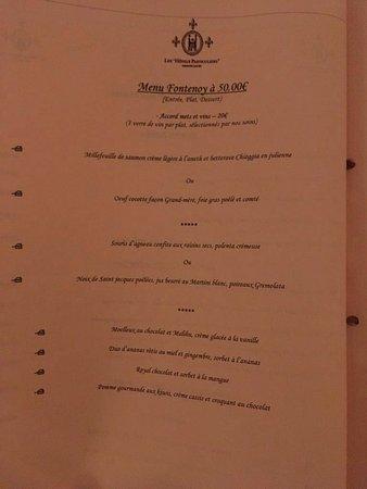 Yerres, Francia: Le menu à 50€