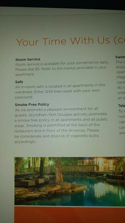 Ramada Resort Port Douglas: Ramada nonsmoking policy