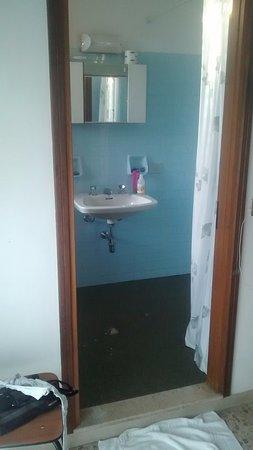 Hotel Carezza: Bagno con sanitari datati senza piatto doccia