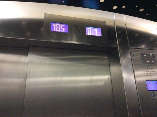 Restaurant 181 Business: Arrivée en haut à 185M très rapide + de 3M/sec.