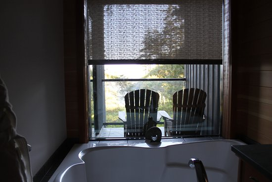 There was even a view from the bathtub