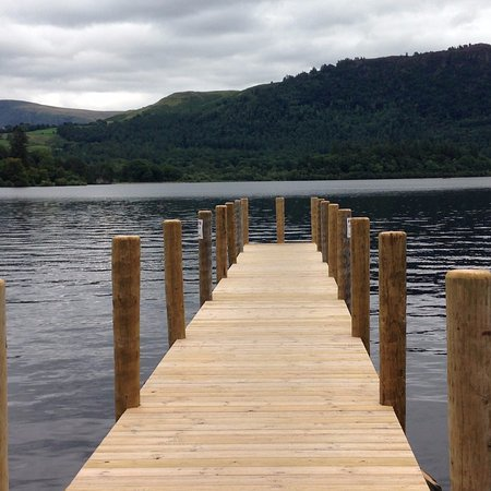 Lake View Guest House: The jetty at the Lingholm Estate.