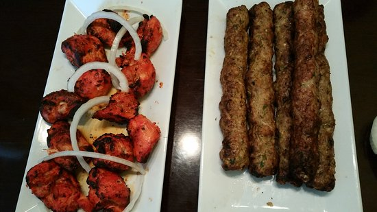 Hicksville, NY: Chicken Tikka on the Left and Chicken Seekh Kabab on the Right