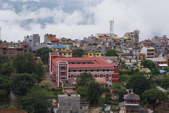 Hotel Srinagar: View of Tansen from near hotel