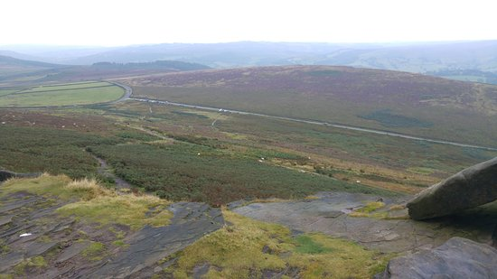 Hathersage, UK: From top to the carpark