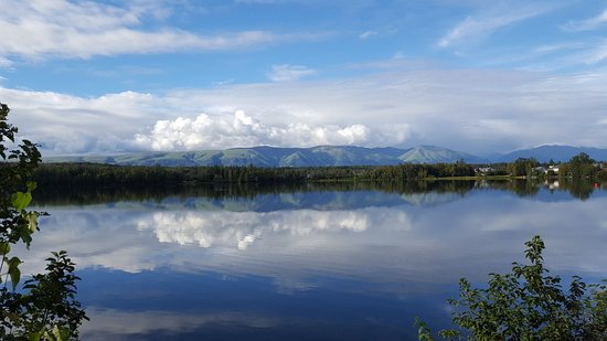 Alaska's Lake Lucille Bed & Breakfast: Relax on the dock and enjoy the view.