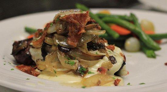 Roseau, MN: Signature dishes - Bacon Parm Sirloin