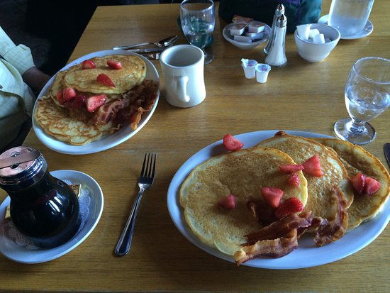 We should have shared one plate of pancakes.