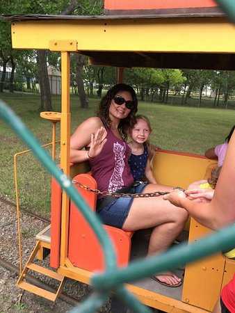 EVRAZ Family Park and Pool: Daughter and granddaughter at company picnic.