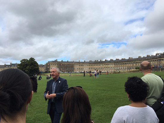 Mayor's Honorary Guides: Andrew Butterworth sharing his knowledge of Bath with the group