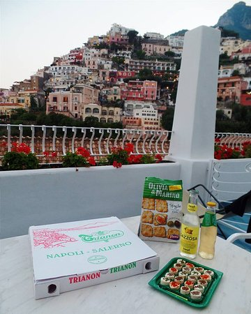 Residence La Tavolozza: The view from our balcony was so breathtaking that we skipped the restaurant and ate here instea