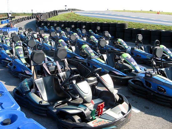 Dawsonville, Georgien: So many karts!