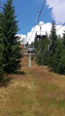 Cluj County, Romania: the ski lift was running in August....