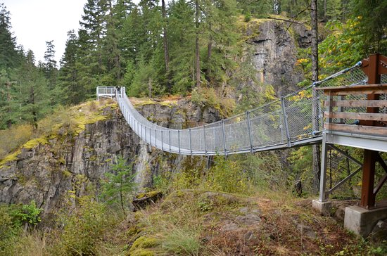 Campbell River, Canadá: the suspension bridge