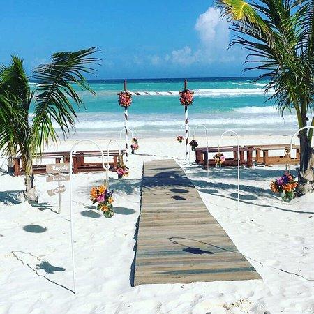 Akiin Beach Club Wedding Day