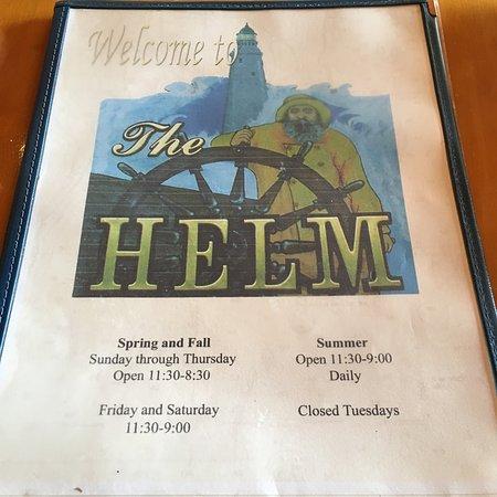 The Helm: Menù