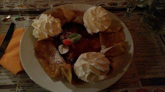 Le Patacrêpe Plan de campagne : crêpe dessert confiture fraise