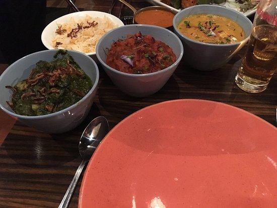 Moksh : Korma, Saag Aloo and Veg Curry