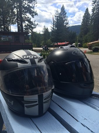 Cycle BC Rentals and Tours: Crash helmets on tour!
