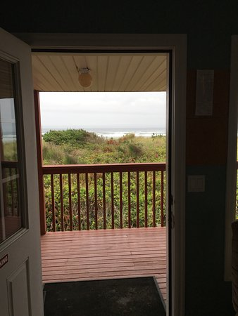 The Getaway: View of beach from front door.