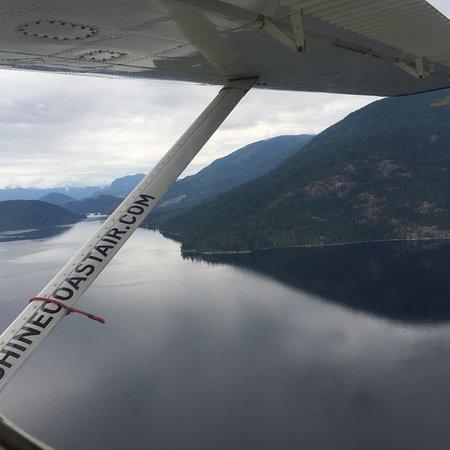 Sunshine Coast Air scenic flight over Sechelt Inlet