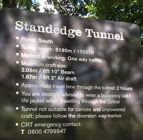 Marsden, UK: The sign as you enter the tunnel