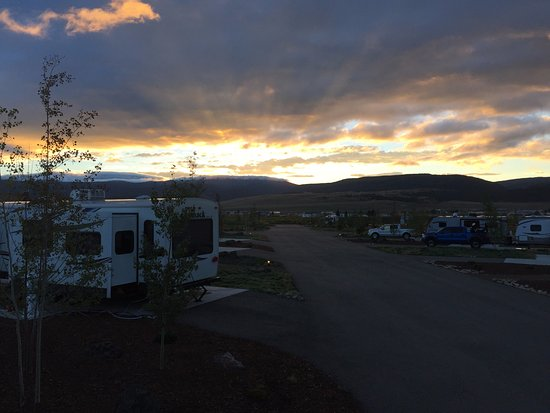 Angel Fire, NM: Sunrise from the RV resrot