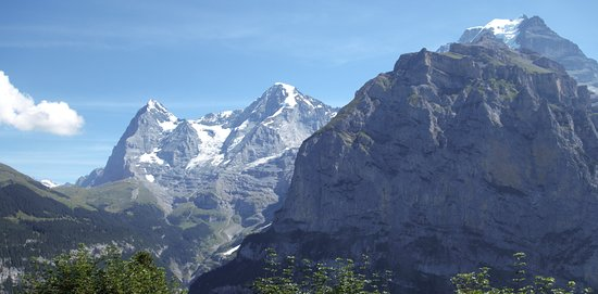 Hotel Eiger: View from 1 of 2 balconies in the room