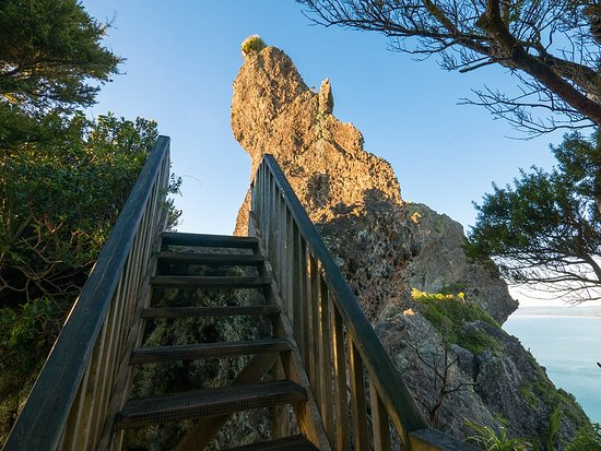 Mt Manaia: The final stairs