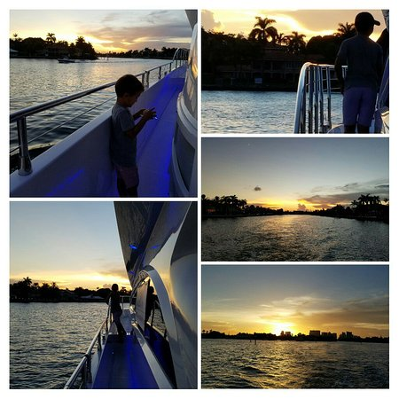 Coastal Yacht Tours: Enjoy watching the sunset cruising Fort Lauderdale on the yacht