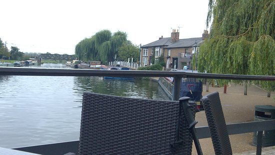 The Cutter Inn: view from the front overlooking river