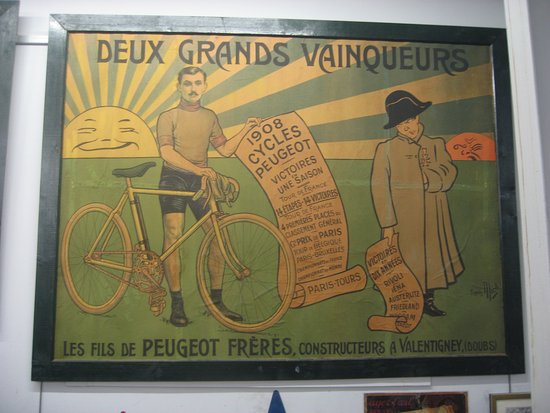 Valencay, Frankrig: Affiche Peugeot de 1908-1909