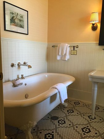 Upper Lake, CA: Claw foot tub in our room