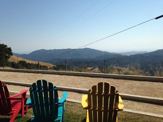 Asuncion Ridge: Bocce ball court and views that go to the ocean