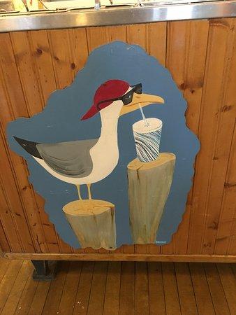 Downeast Ice Cream: Cool seagull