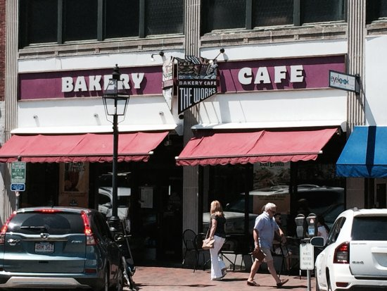 The Works Bakery Cafe: View from across the street