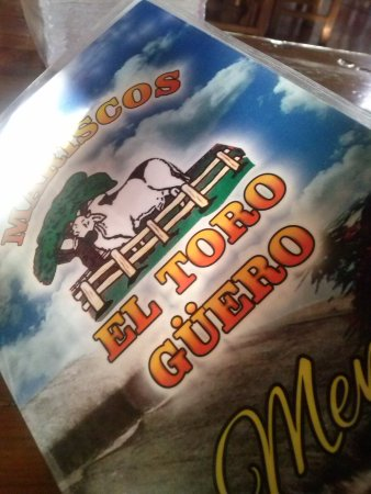 Mariscos el Toro Guero: El menú.