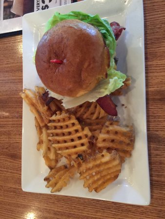 Victor, NY: Bacon Cheeseburger with Waffle Fries