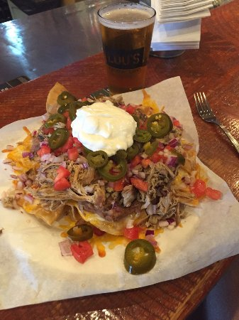 Ponderay, ID : Nachos and as can be seen a huge portion