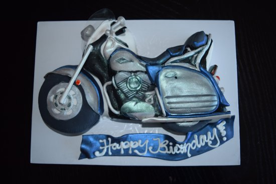 Marvelous Motorcycle Birthday Cake Picture Of Fatty Pattys Cakes Cafe Personalised Birthday Cards Epsylily Jamesorg